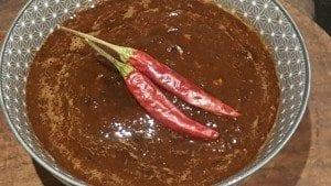 ancho, chipotle and new mexico chilli paste.