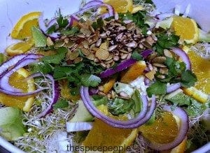 fennel salad with chilli nut mixture
