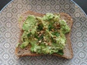 avocado and dukkah toast