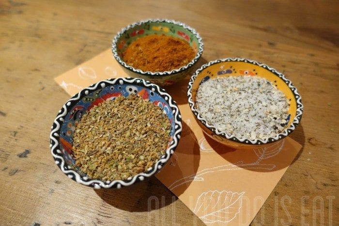 three of our most popular spice blends