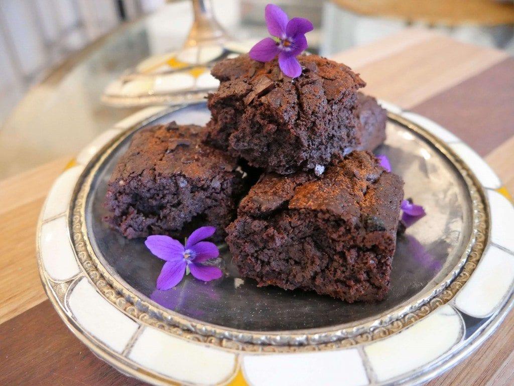 chocolate, chilli brownies