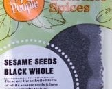 sesame seeds black whole