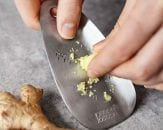 stainless-steel garlic and ginger grater