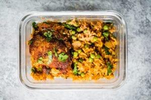 Adobo Chicken with Coriander Rice