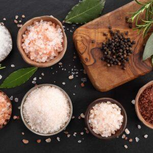 Various types of table salt.